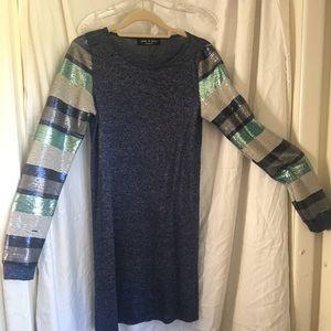 Glitter sleeve dress